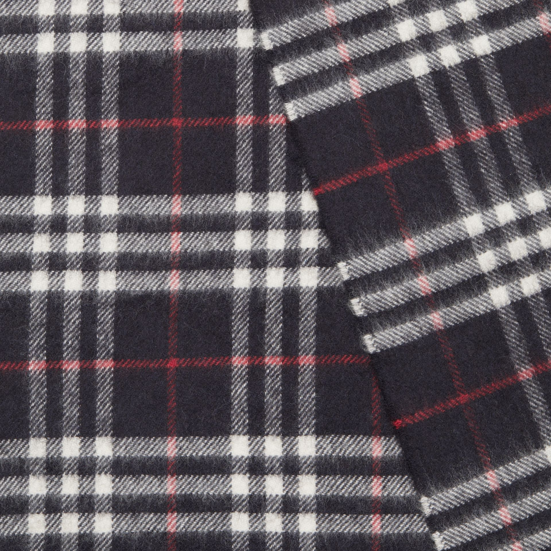 The Classic Vintage Check Cashmere Scarf in Navy | Burberry Singapore - gallery image 1
