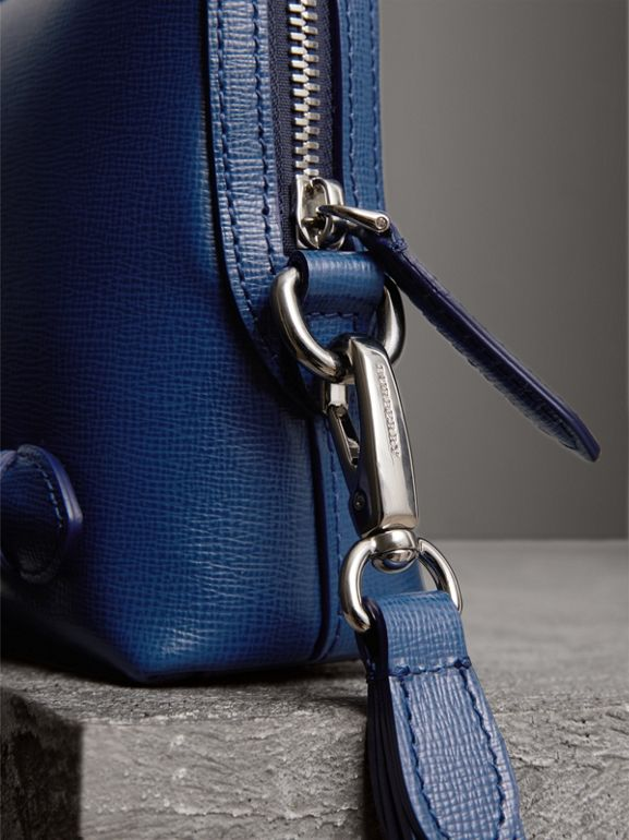 London Leather Pouch in Deep Blue | Burberry Australia - cell image 1