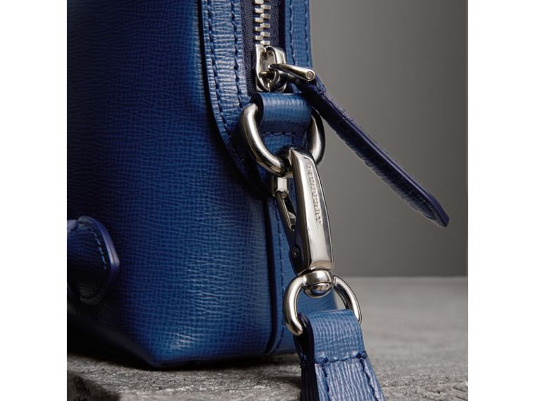 London Leather Pouch in Deep Blue | Burberry United Kingdom - cell image 1