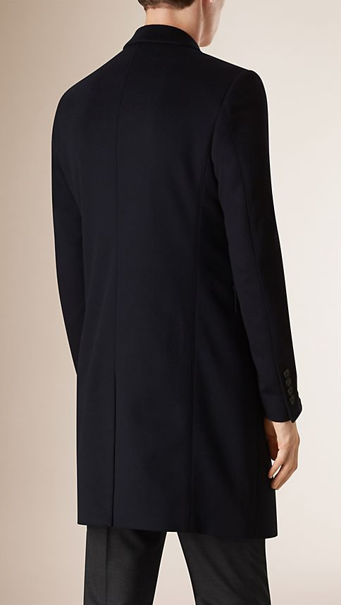 Navy Wool Cashmere Topcoat Navy - Image 3