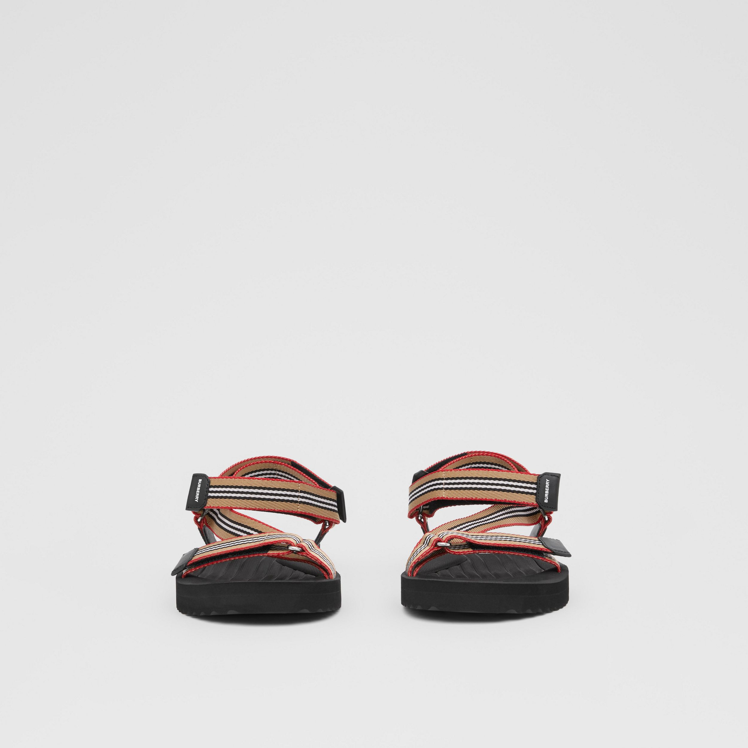 Icon Stripe Sandals in Archive Beige - Men | Burberry - 3