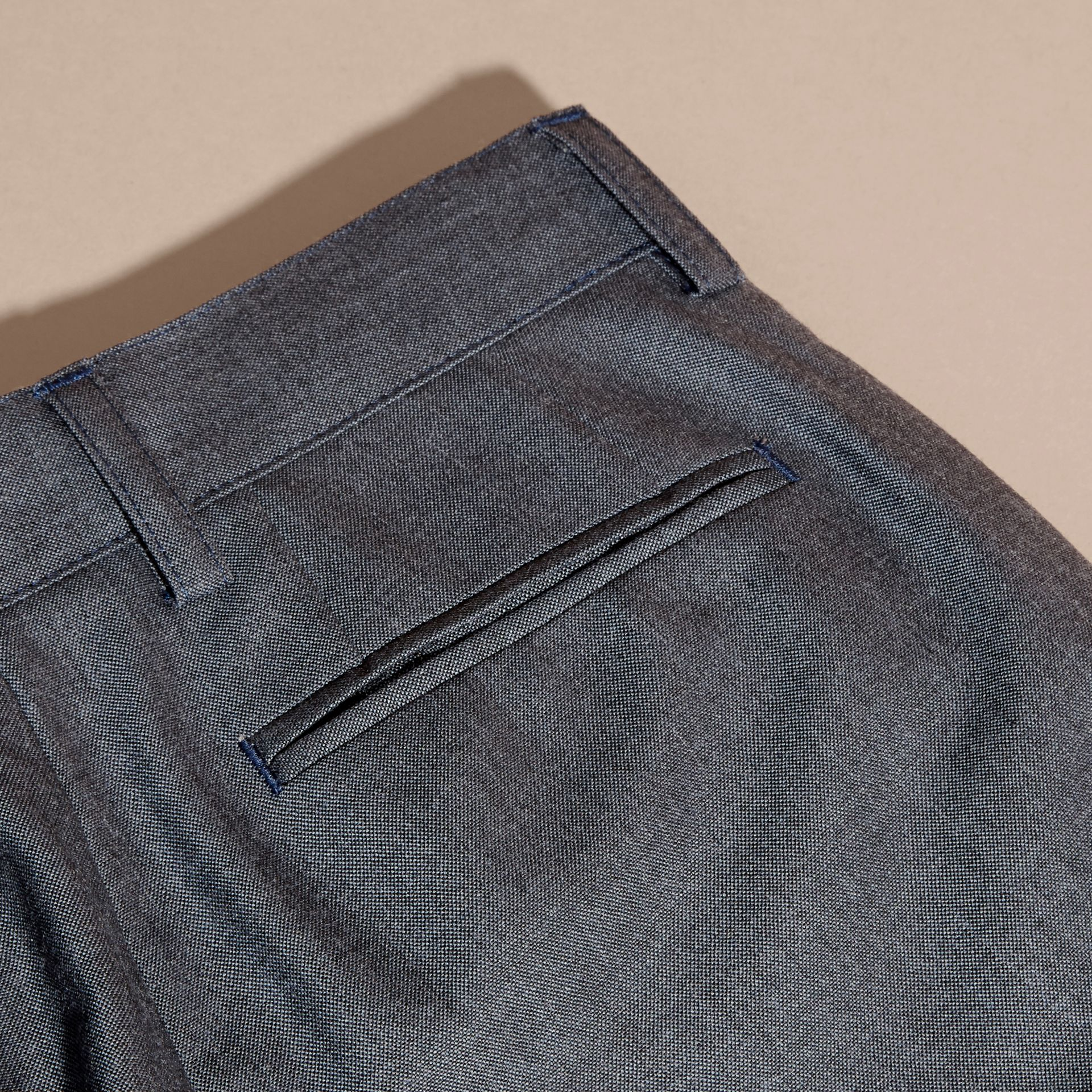 Airforce blue Tailored Wool Trousers Airforce Blue - gallery image 2