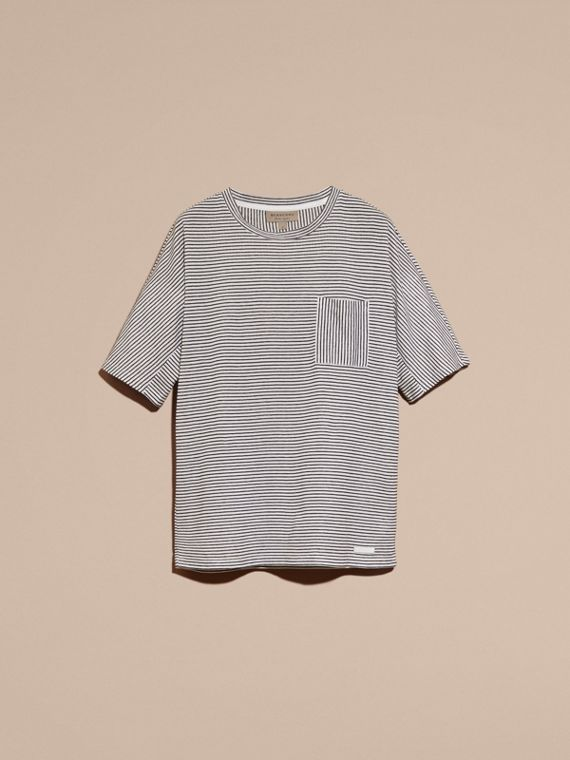 Striped Cotton Linen T-shirt - cell image 3
