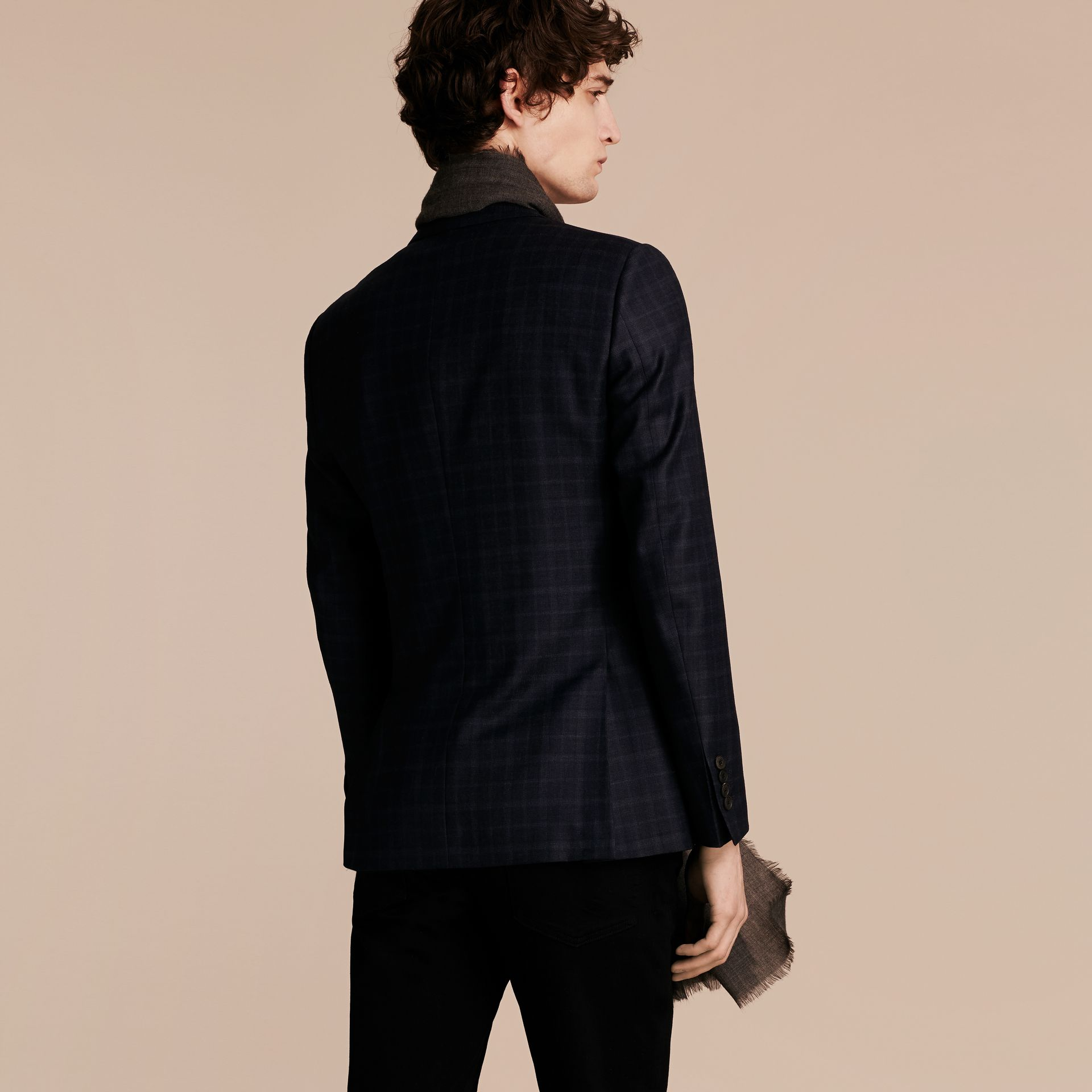 Ink Slim Fit Check Wool Tailored Jacket - gallery image 3