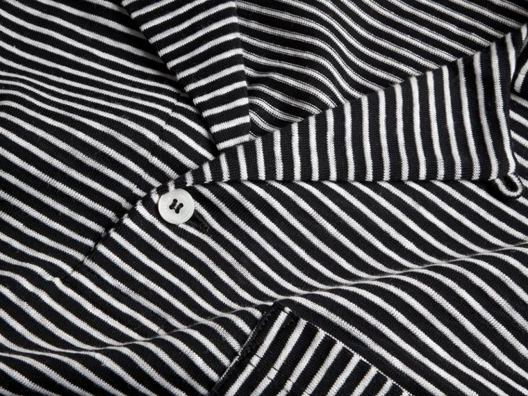 Striped Cotton Linen Polo Shirt - cell image 1