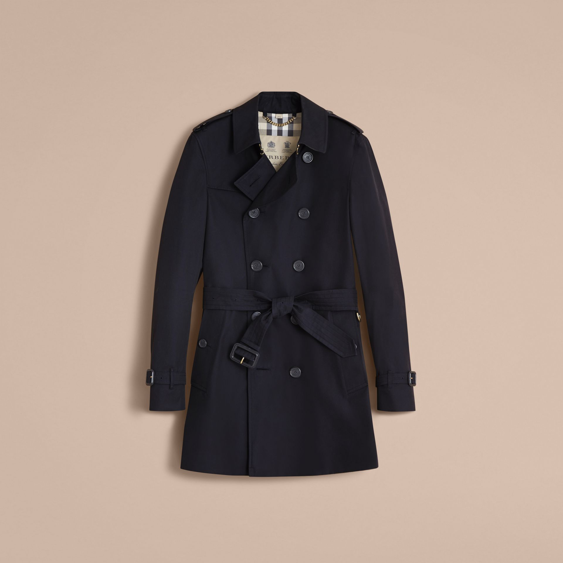 The Chelsea – Mid-length Heritage Trench Coat Navy - gallery image 4