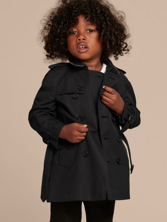 The Wiltshire – Heritage Trench Coat in Black | Burberry Singapore