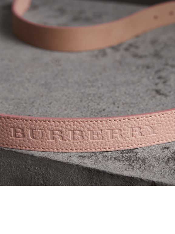 Embossed Leather Belt in Pale Ash Rose - Women | Burberry - cell image 1