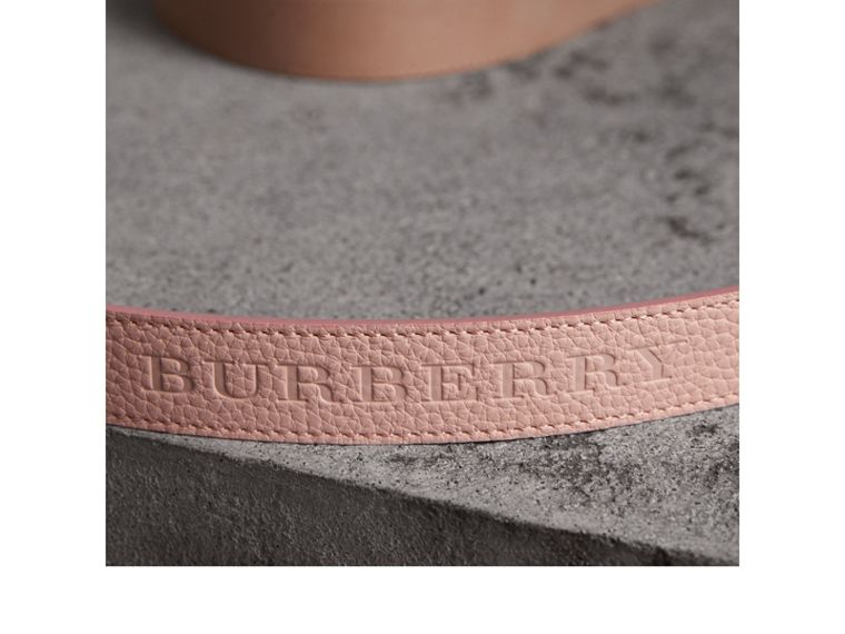 Embossed Leather Belt in Pale Ash Rose - Women | Burberry United States - cell image 1