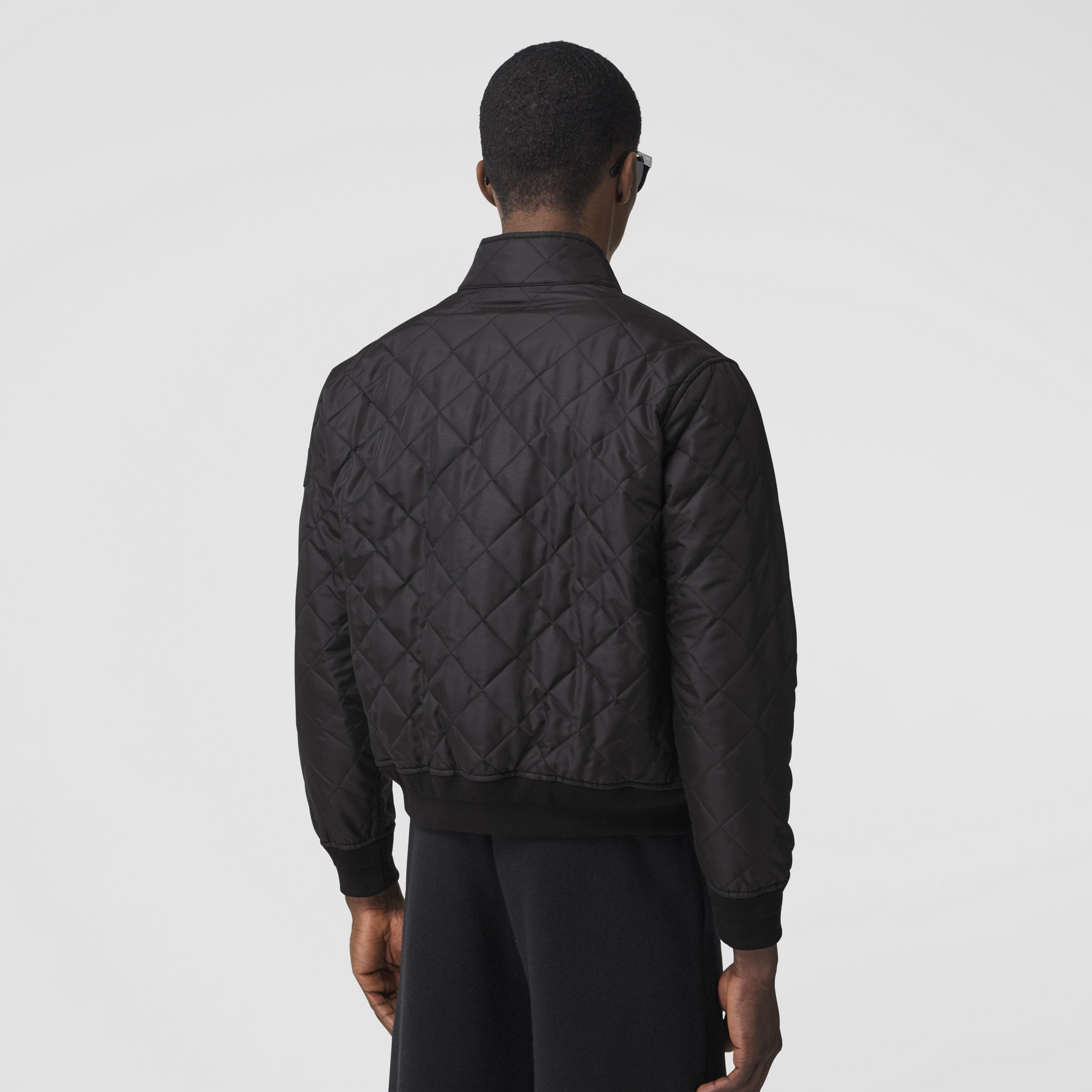 Diamond Quilted Thermoregulated Jacket in Black - Men | Burberry - 3