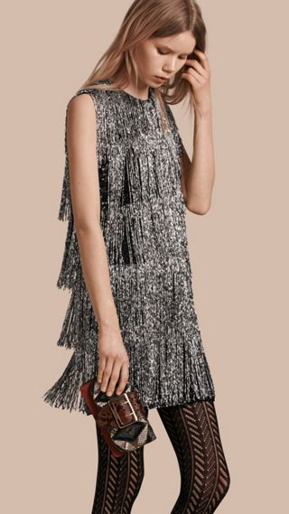 Bead-fringed Silk Dress