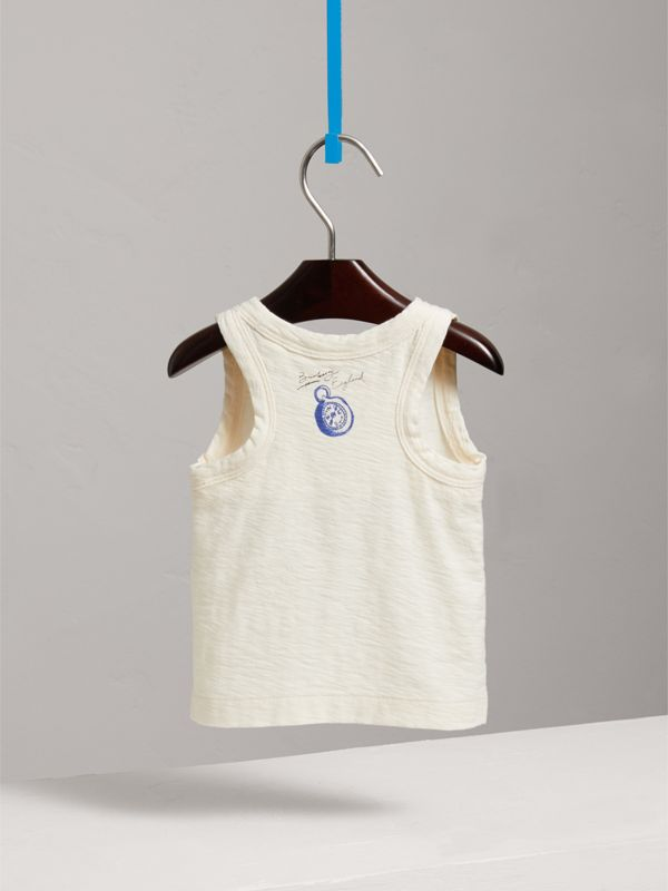 Adventure Motif Cotton Vest in Chalk White - Children | Burberry - cell image 3
