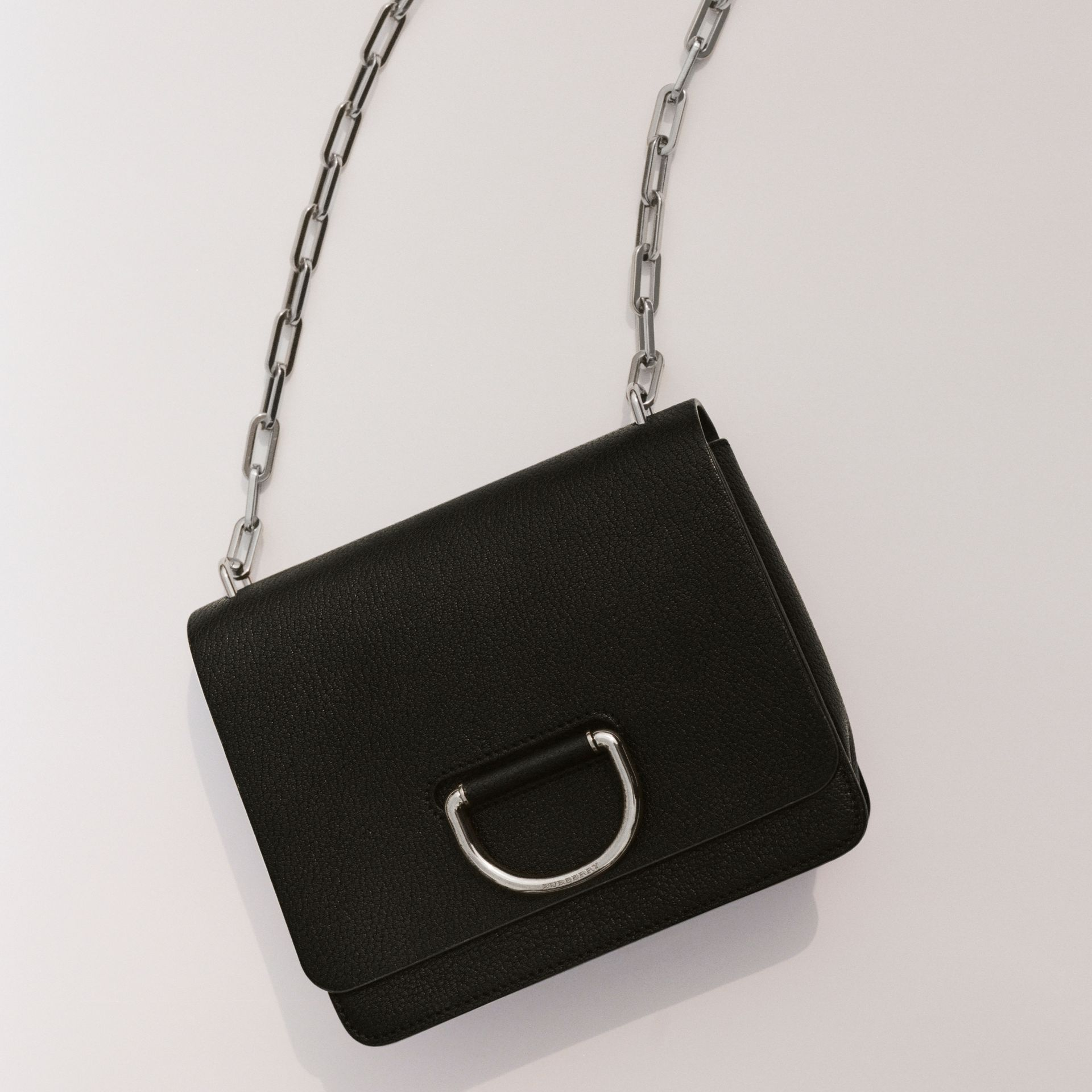 The Small Leather D-ring Bag in Black - Women | Burberry Singapore - gallery image 1