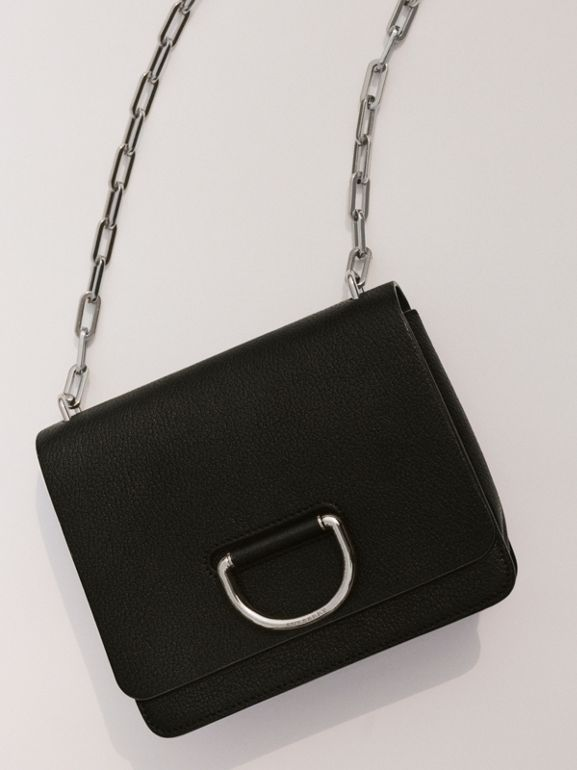 The Small Leather D-ring Bag in Black - Women | Burberry Hong Kong S.A.R - cell image 1