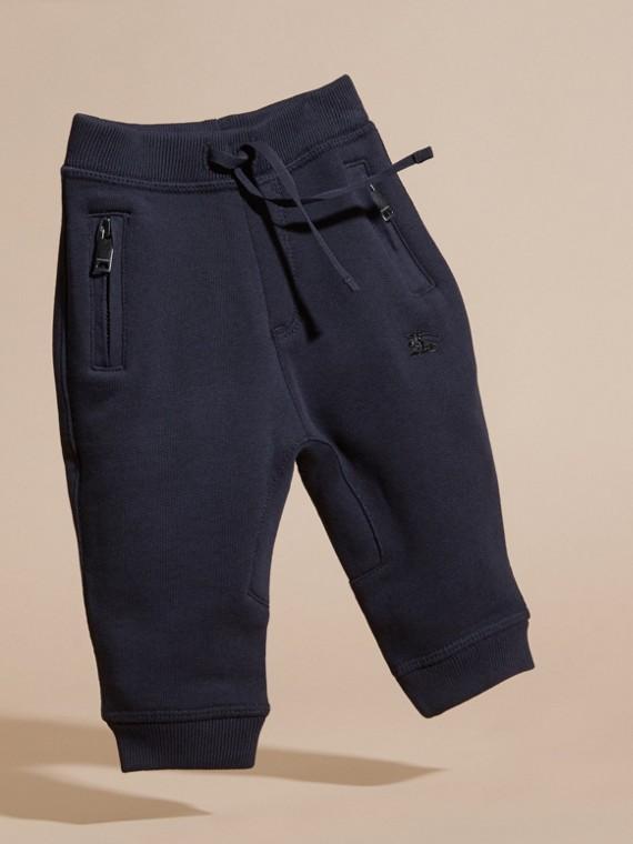 Marine foncé Pantalon de survêtement en coton - cell image 2