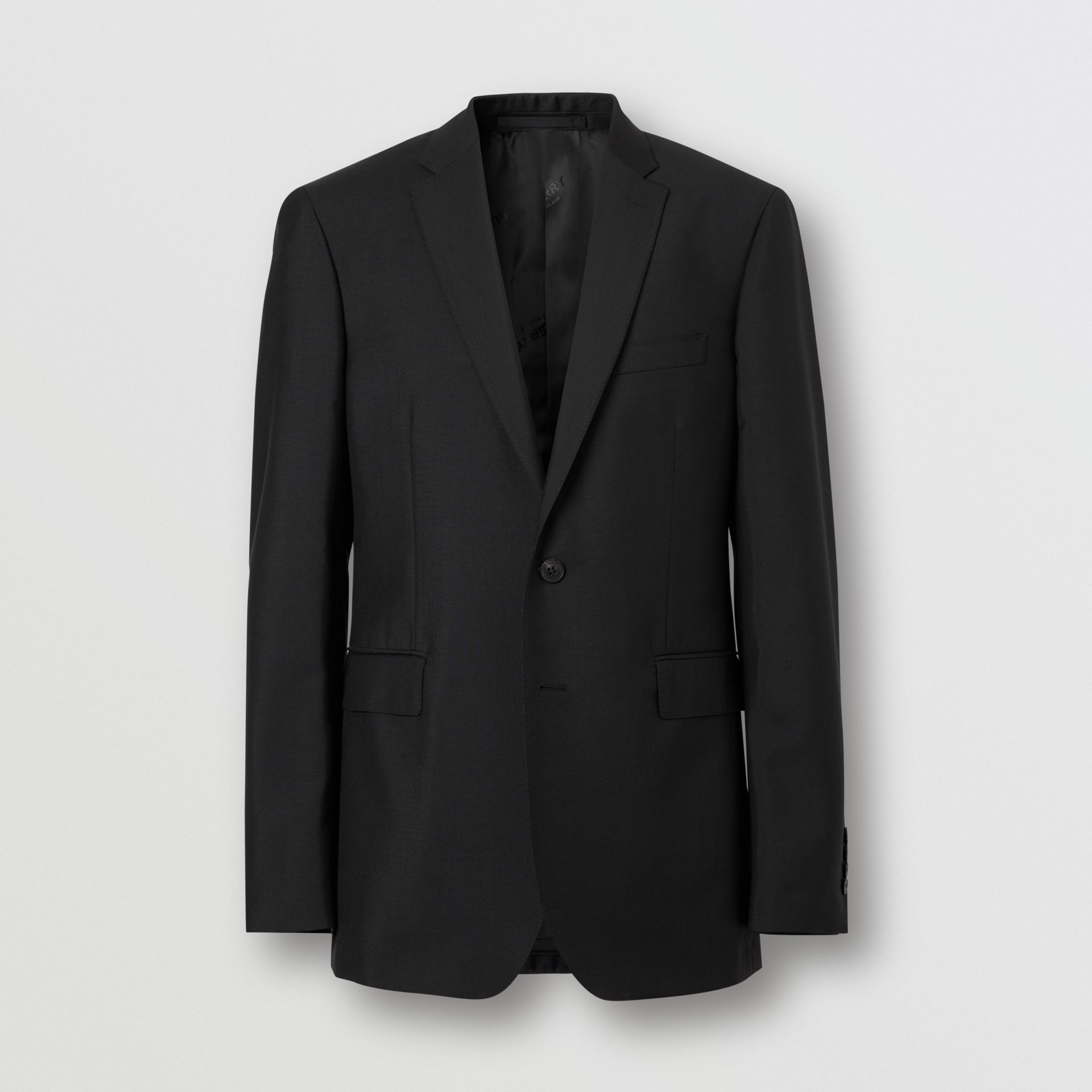 Slim Fit Wool Mohair Suit in Black - Men | Burberry - gallery image 3
