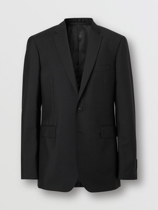 Slim Fit Wool Mohair Suit in Black - Men | Burberry Hong Kong S.A.R - cell image 3