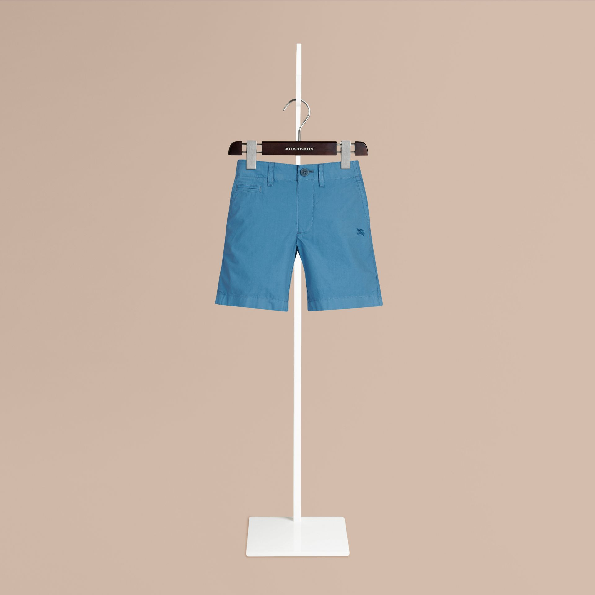 Lupin blue Cotton Chino Shorts - gallery image 1