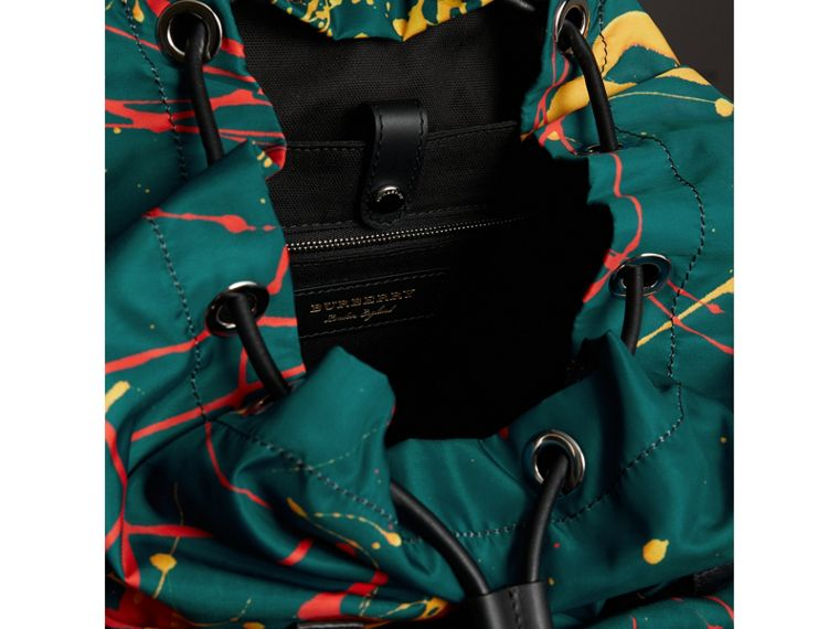 The Large Rucksack in Splash Print in Dark Teal - Men | Burberry - cell image 4