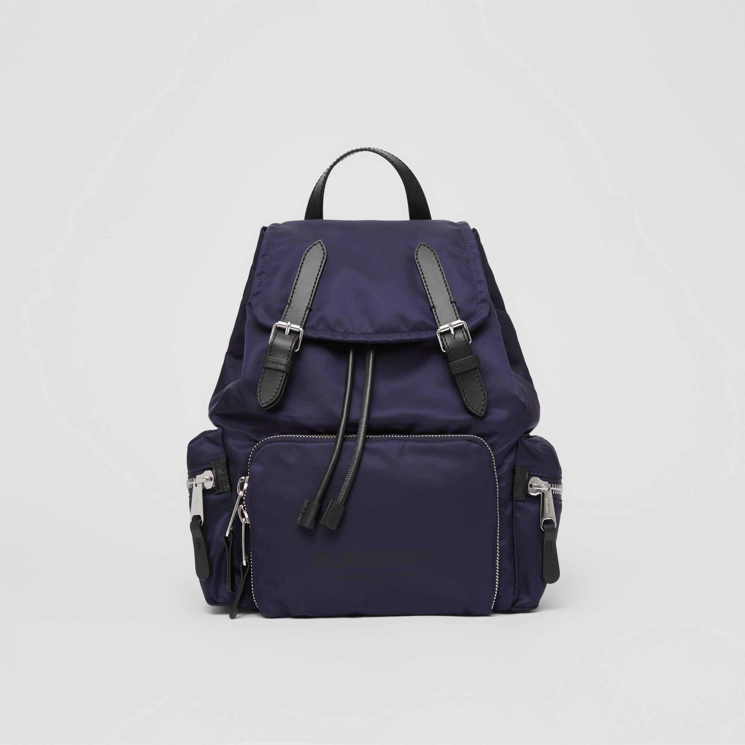 The Medium Rucksack in Logo Print ECONYL® in Navy - Women | Burberry - 1
