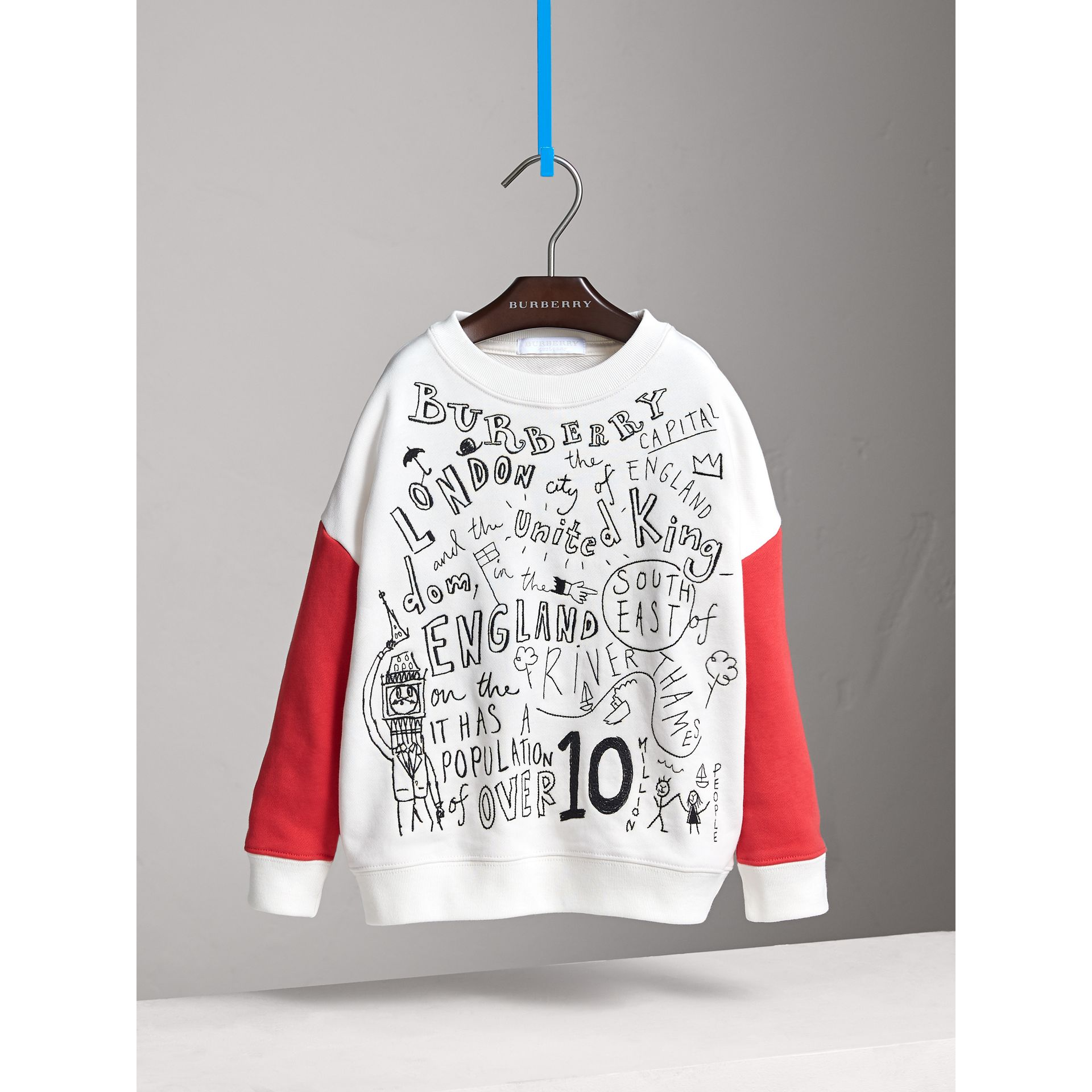 London Icons Print Cotton Jersey Sweatshirt - Girl | Burberry - gallery image 3