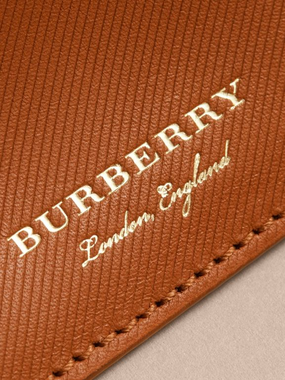 Trench Leather Card Case in Tan | Burberry - cell image 1
