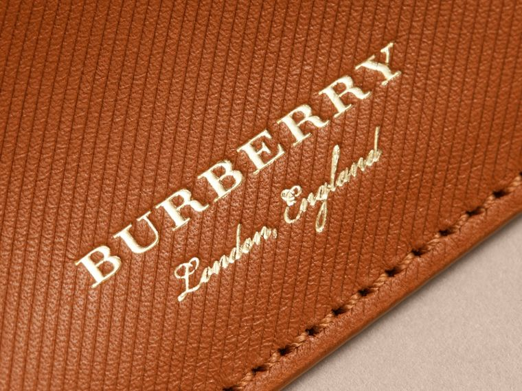 Trench Leather Card Case in Tan - Men | Burberry United Kingdom - cell image 1