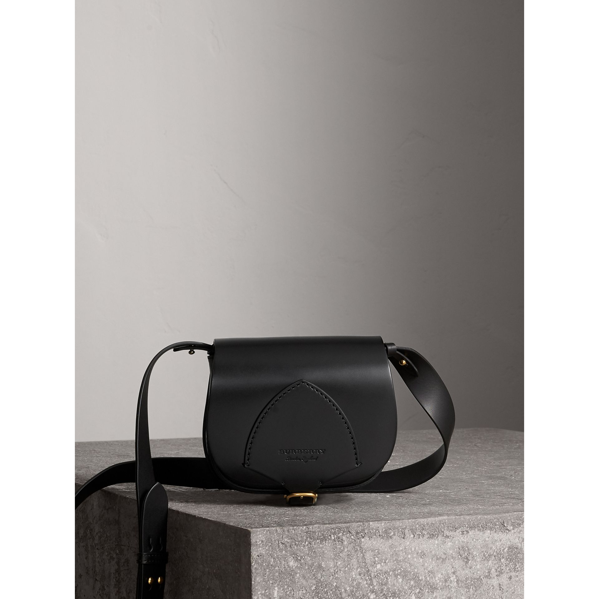 The Satchel in Bridle Leather in Black - Women | Burberry United States - gallery image 0