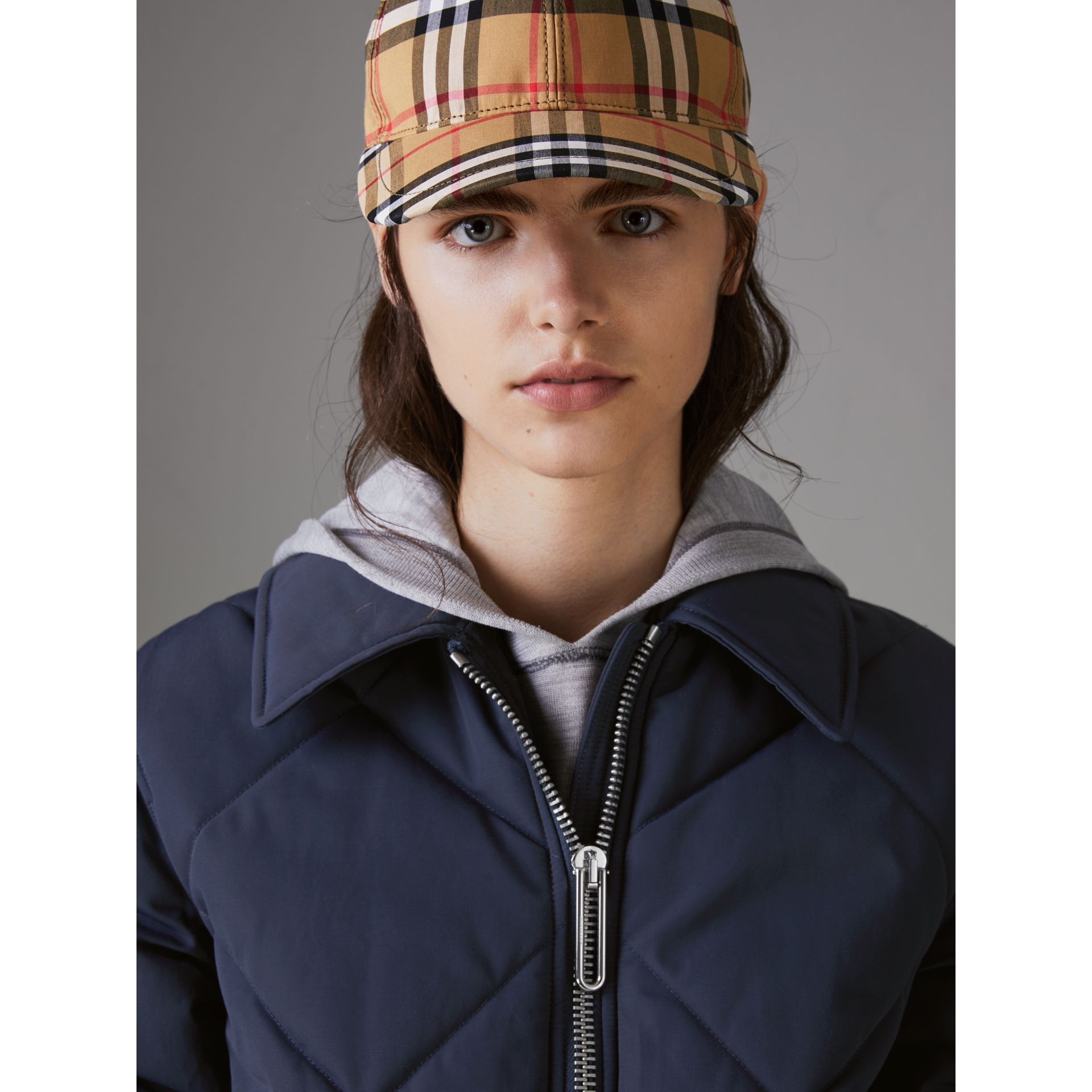 Quilted Technical Cotton-blend Jacket in Navy - Women | Burberry Singapore - gallery image 1
