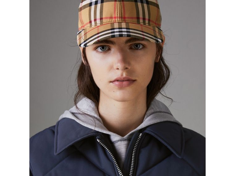 Quilted Technical Cotton-blend Jacket in Navy - Women | Burberry Singapore - cell image 1