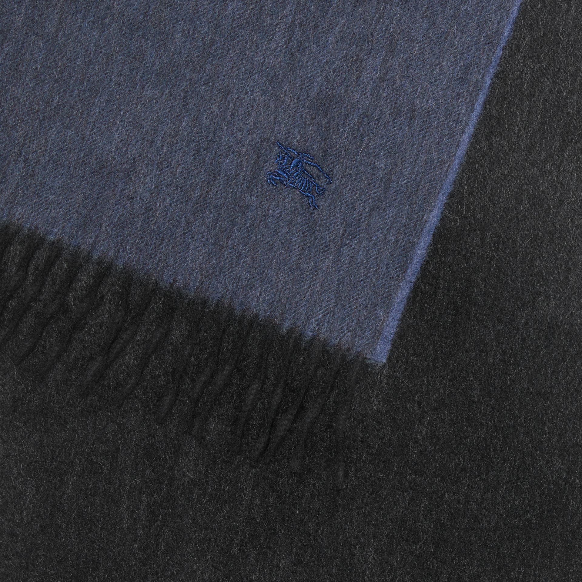 Colour Block Cashmere Scarf in Storm Blue | Burberry - gallery image 1