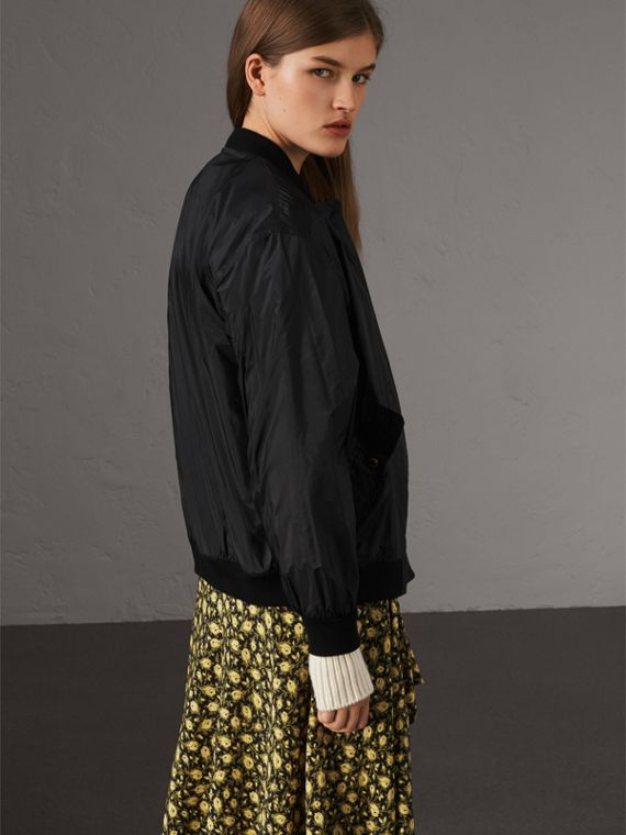 Lightweight Bomber Jacket in Black - Women | Burberry - cell image 2