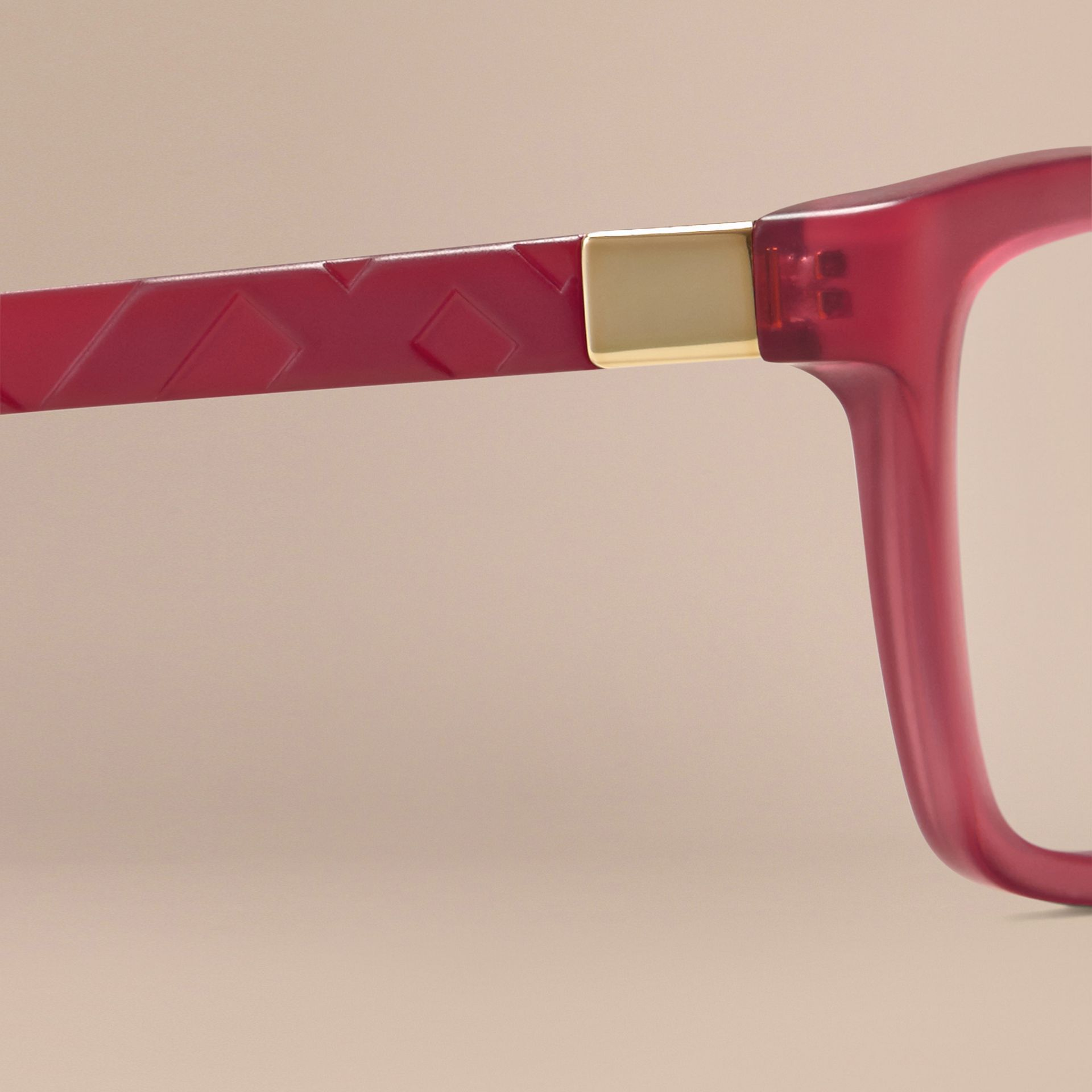 Red Check Detail Cat-eye Optical Frames Red - gallery image 5