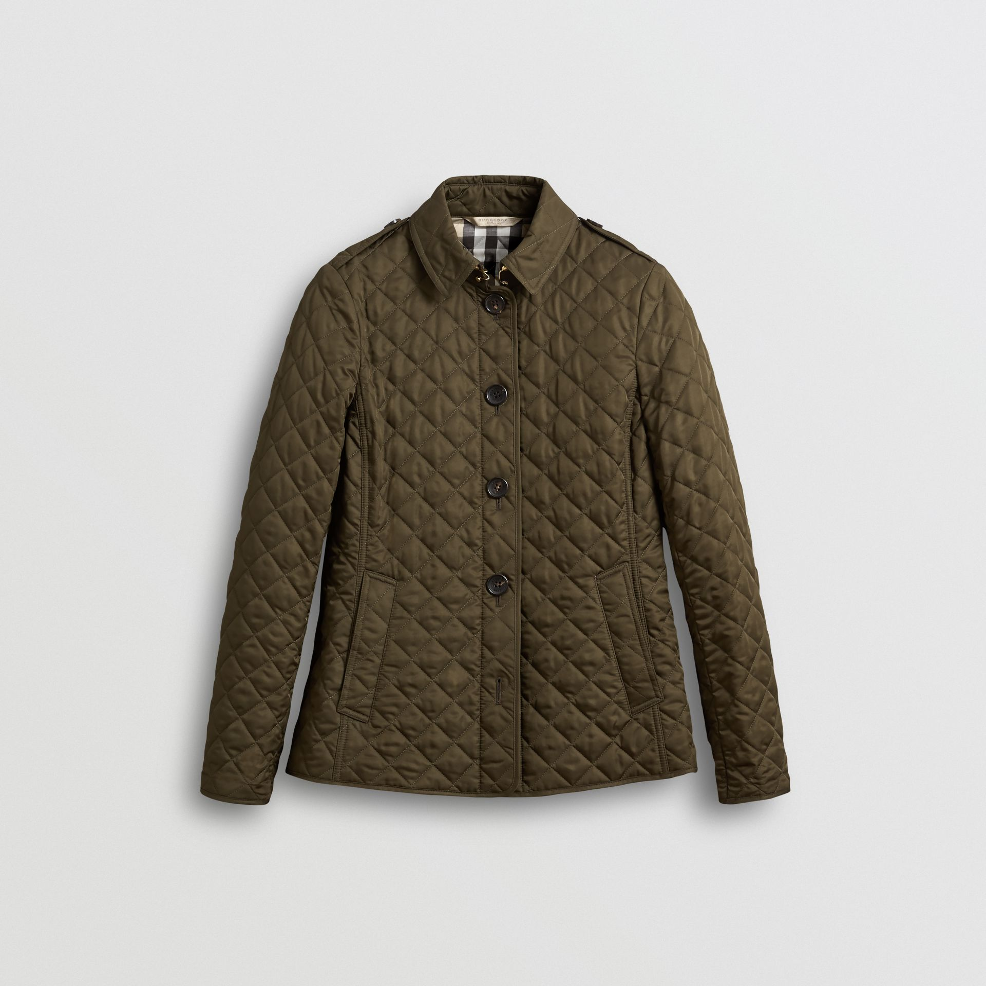 Diamond Quilted Jacket in Dark Olive - Women | Burberry United Kingdom - gallery image 0