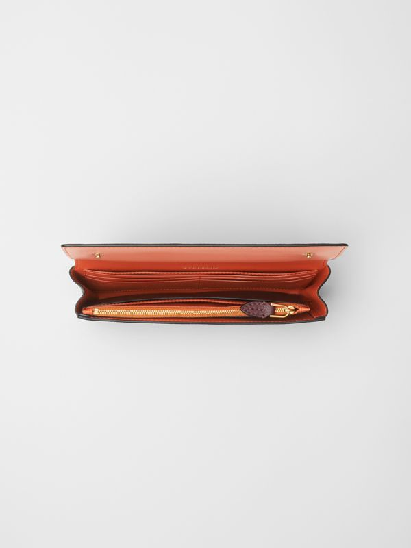 Two-tone Leather Continental Wallet in Deep Claret - Women | Burberry United Kingdom - cell image 2
