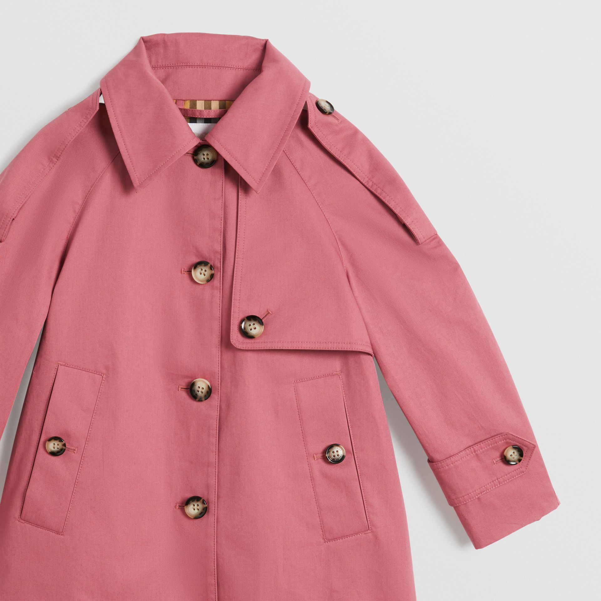 Showerproof Cotton Reconstructed Trench Coat in Rose Pink | Burberry United Kingdom - gallery image 5