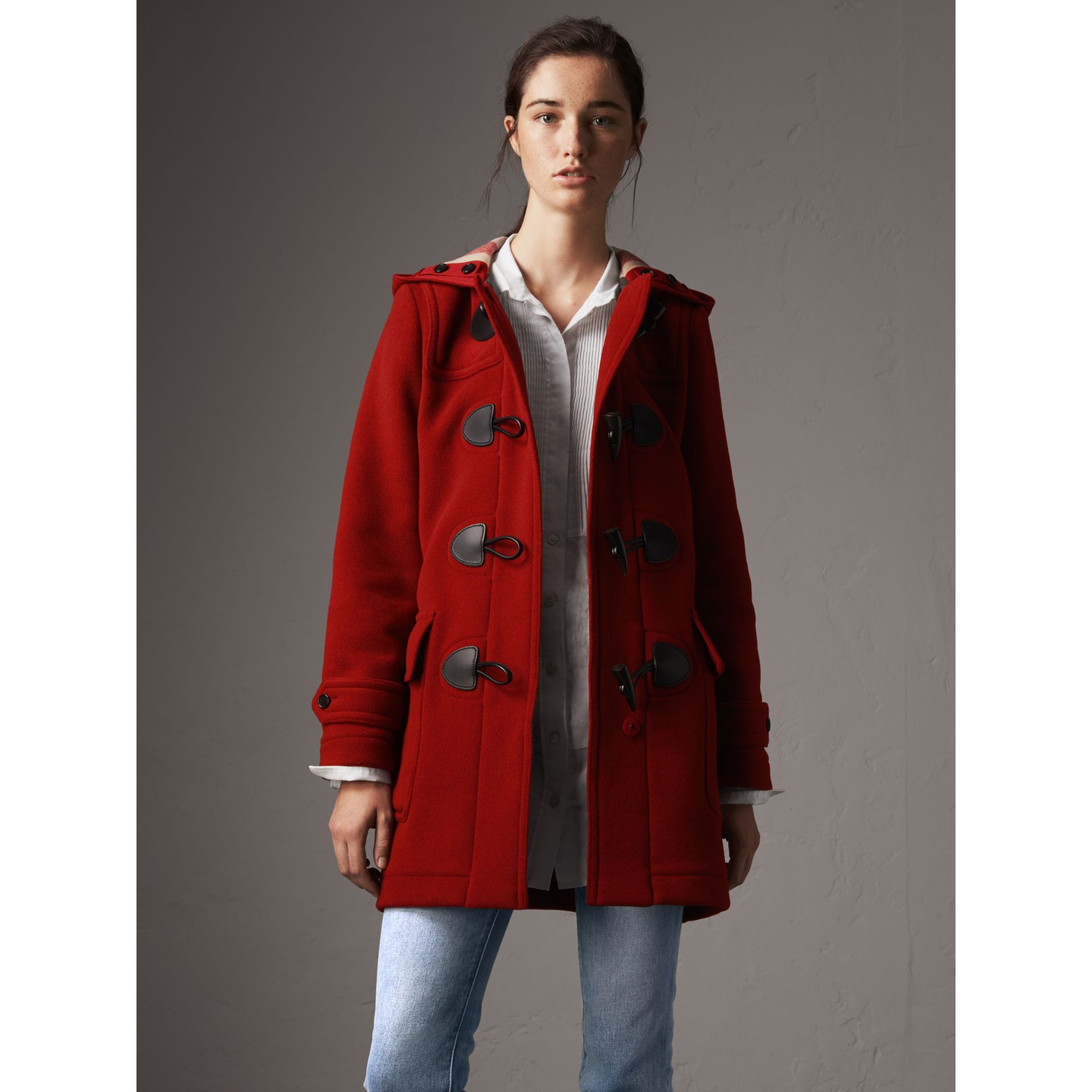 The Mersey Duffle Coat in Parade Red - Women | Burberry - gallery image 1