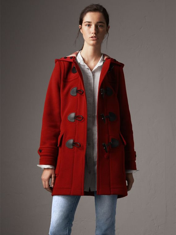 The Mersey Duffle Coat in Parade Red