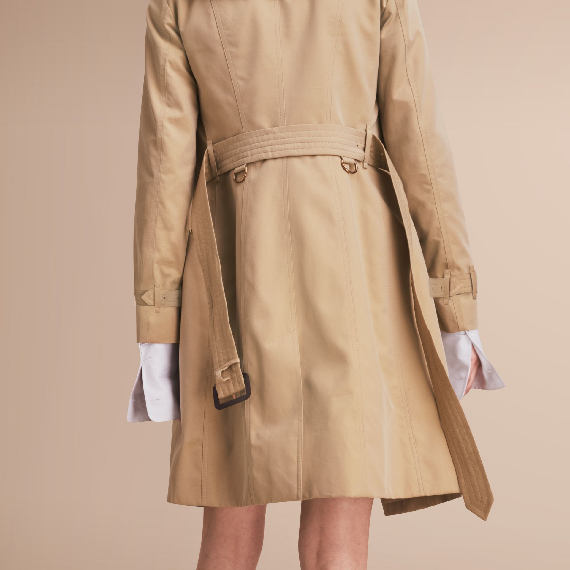 The Sandringham – Long Heritage Trench Coat in Honey - gallery image 6