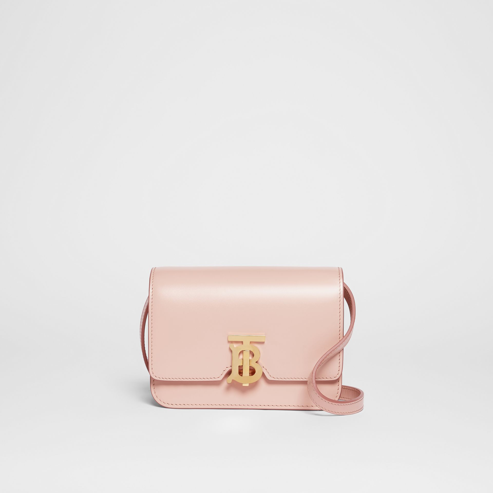 Mini Leather TB Bag in Rose Beige - Women | Burberry - gallery image 0