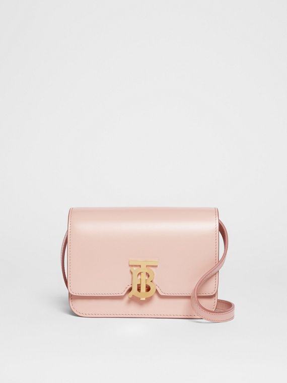 Mini Leather TB Bag in Rose Beige
