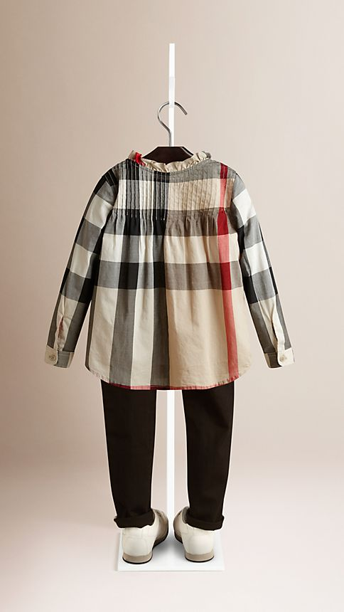 New classic check Check Frill Collar Shirt - Image 2