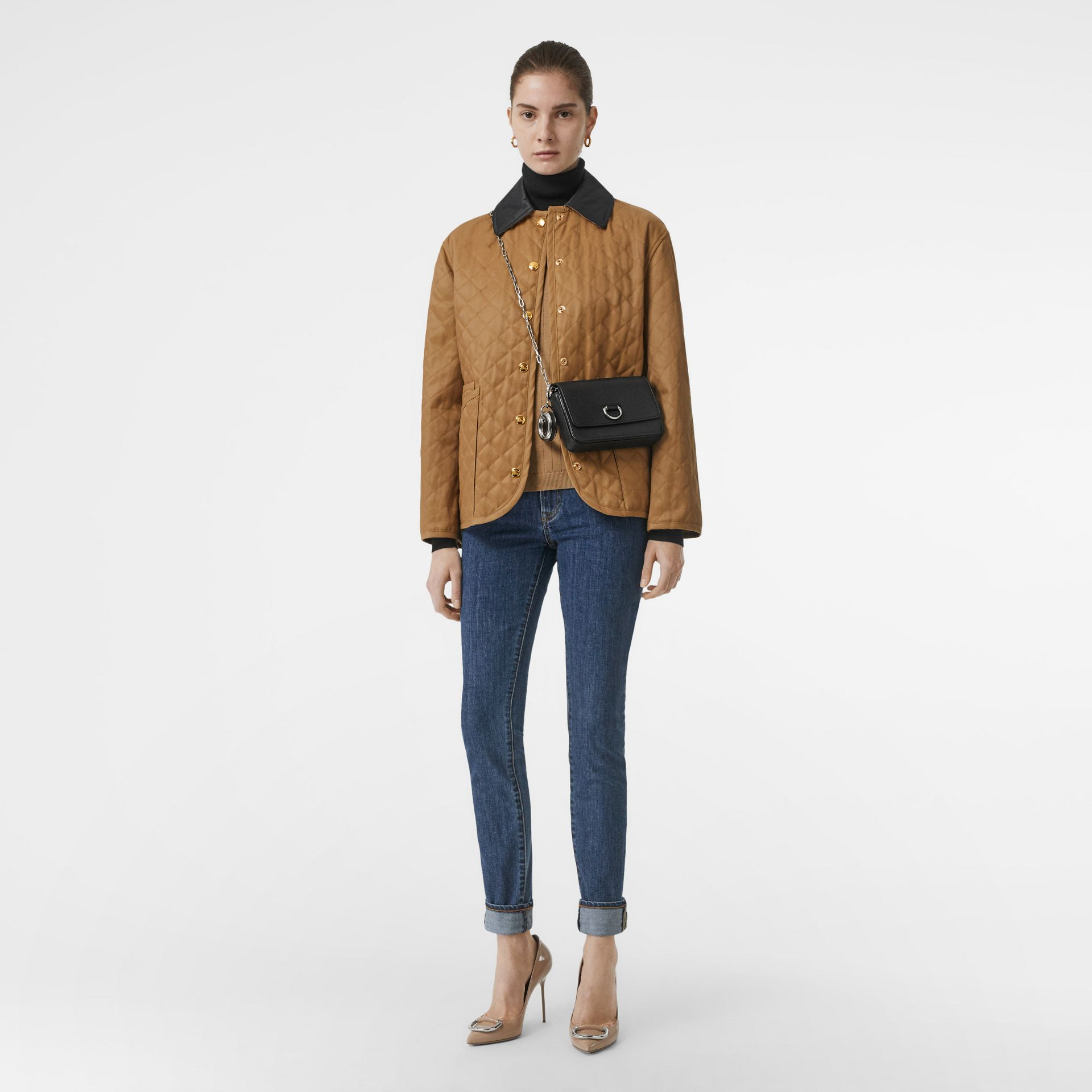 Diamond Quilted Barn Jacket in Camel - Women | Burberry - gallery image 0