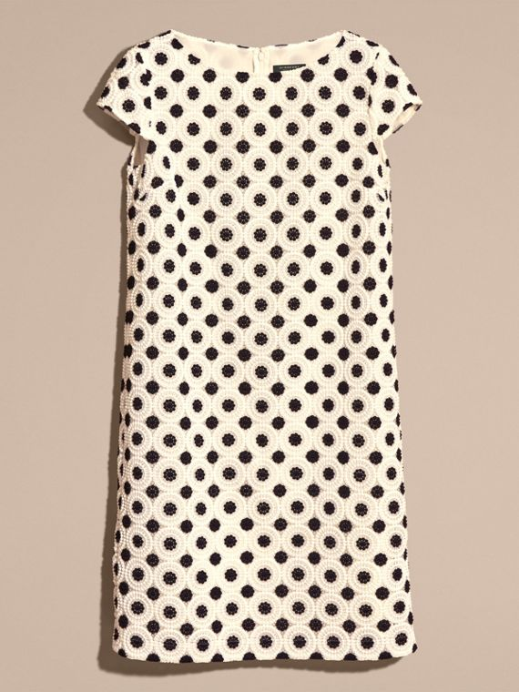Ivory/black Online Exclusive Swiss Lace Shift Dress Ivory/black - cell image 3
