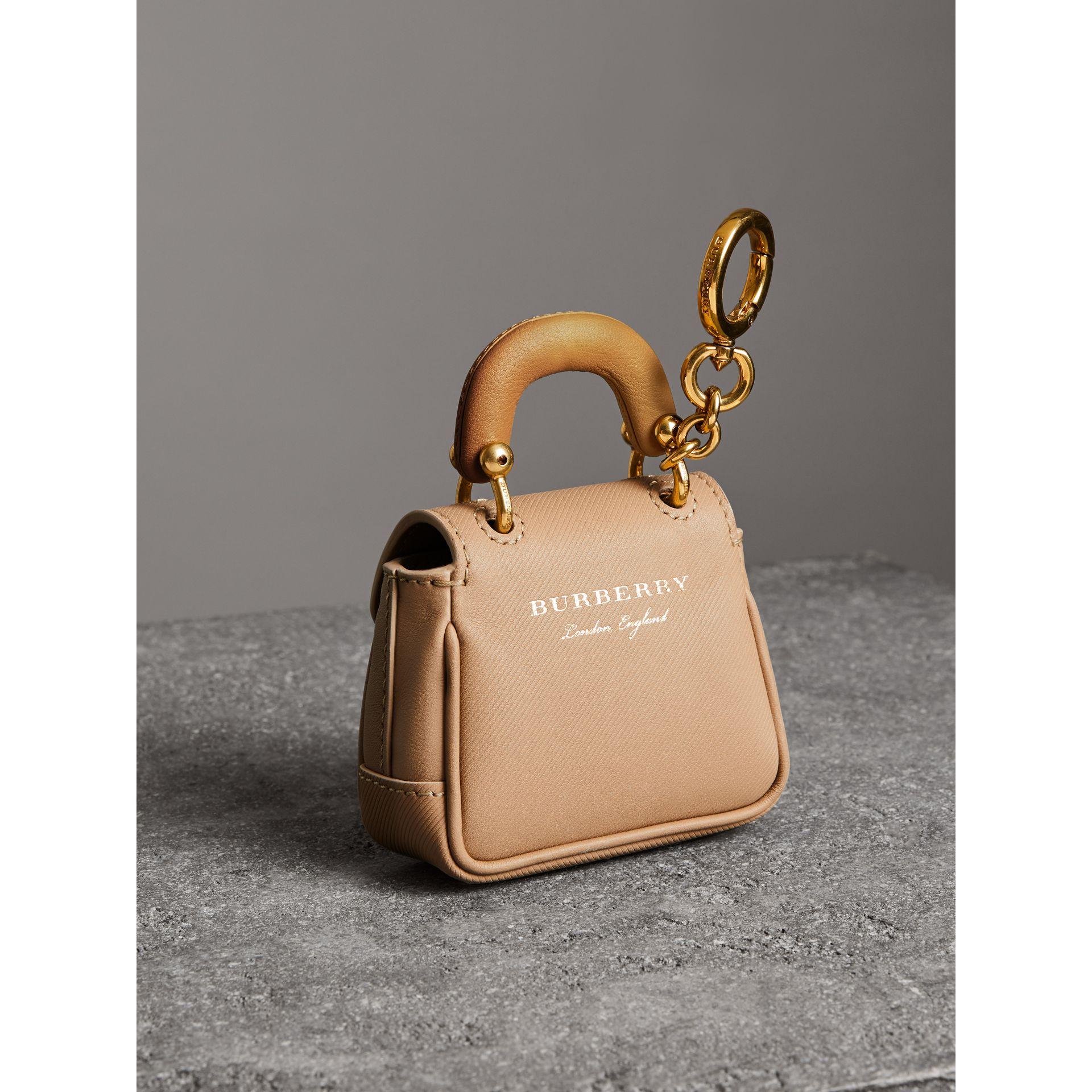 The DK88 Charm in Honey/ochre Yellow | Burberry - gallery image 3