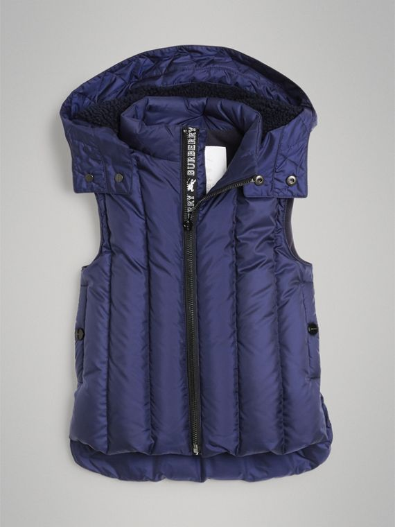 Detachable Hood Down-filled Gilet in Navy