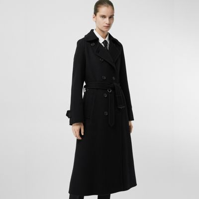 Black Tailored In Double Coat Women Faced Burberry Cashmere wqU6UXE
