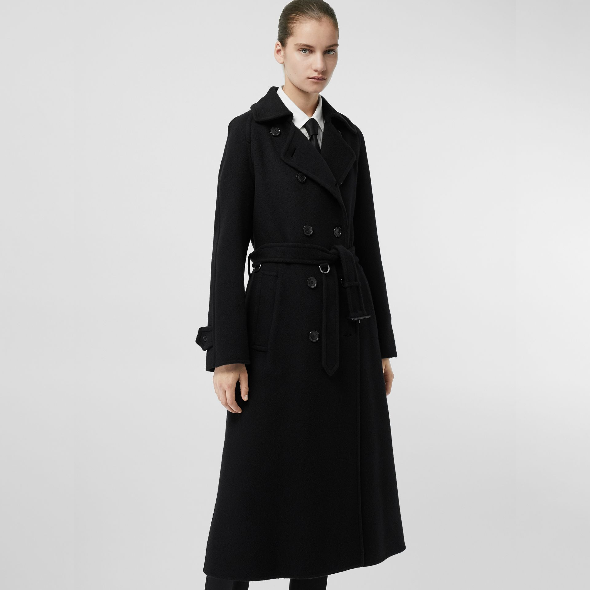 Double-faced Cashmere Tailored Coat in Black - Women | Burberry Australia - gallery image 4