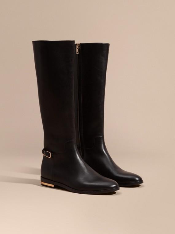 Stivali da equitazione al ginocchio in pelle - Donna | Burberry