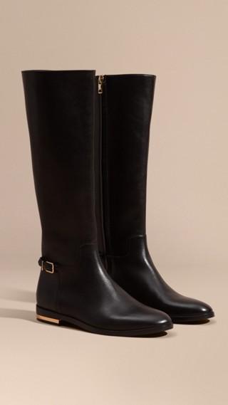 Stivali da equitazione al ginocchio in pelle